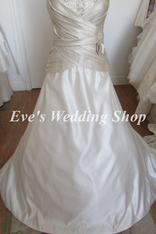 Mori Lee champagne/white wedding dress UK 16/18