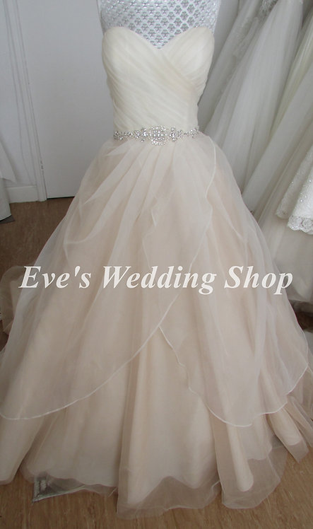 Fairytale Collection rum pink wedding dress UK 14/16