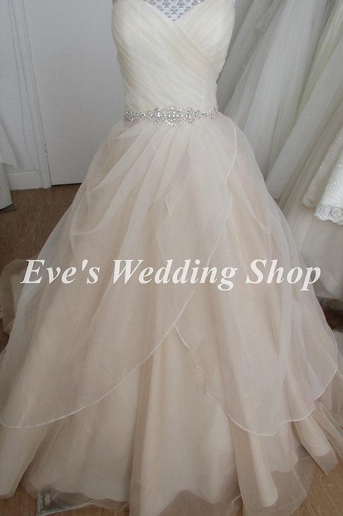 Fairytale Collection rum pink wedding dress UK 14/16
