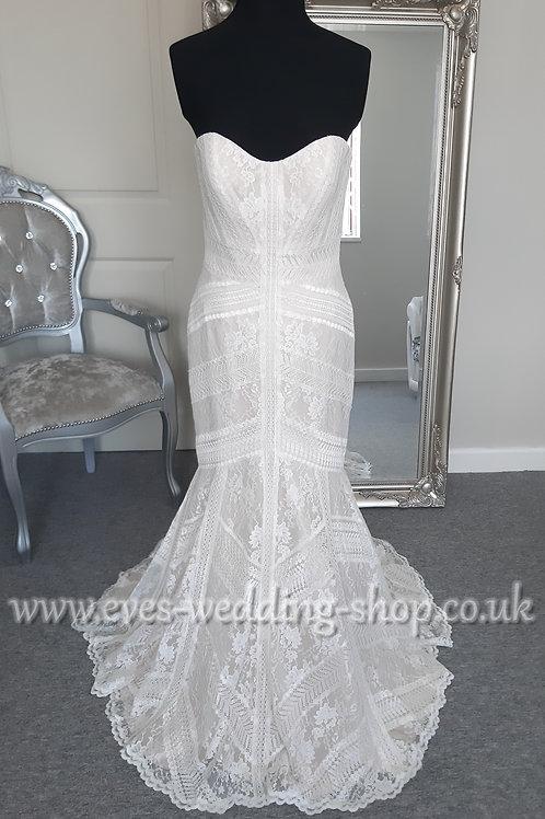 WTOO ''Felin'' ivory/almond wedding dress UK 8