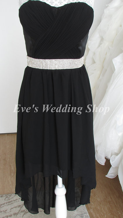 Black dip hem EVENING bridesmaid dress UK size 6/8