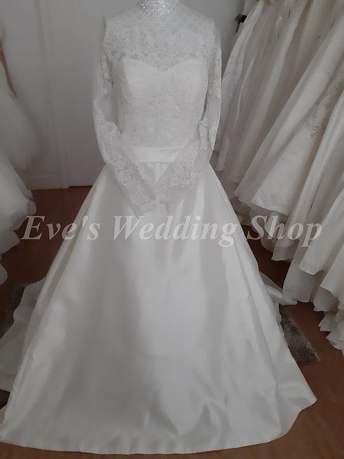 Katerina Scola wedding dress with sleeves UK 14/16