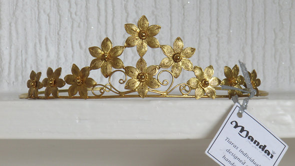 GOLD COLOR PROM WEDDING  TIARA