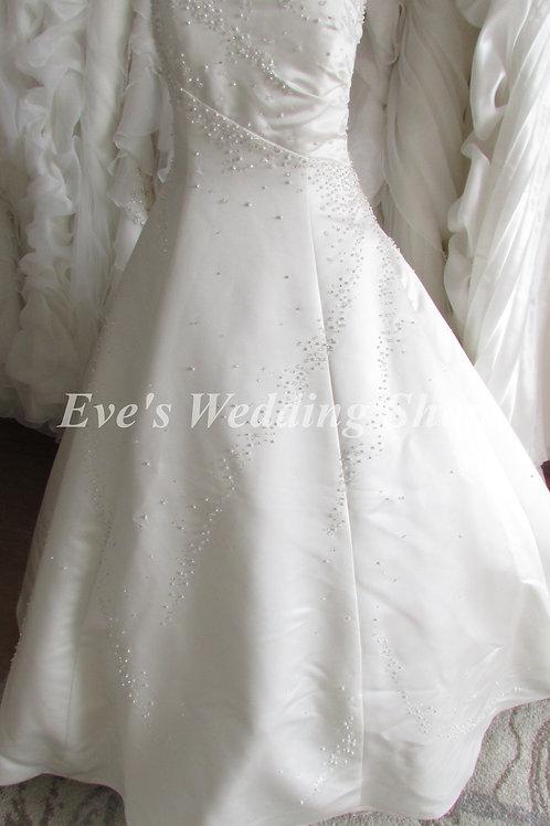 Ivory wedding dress with beads/pearls UK size 14/16