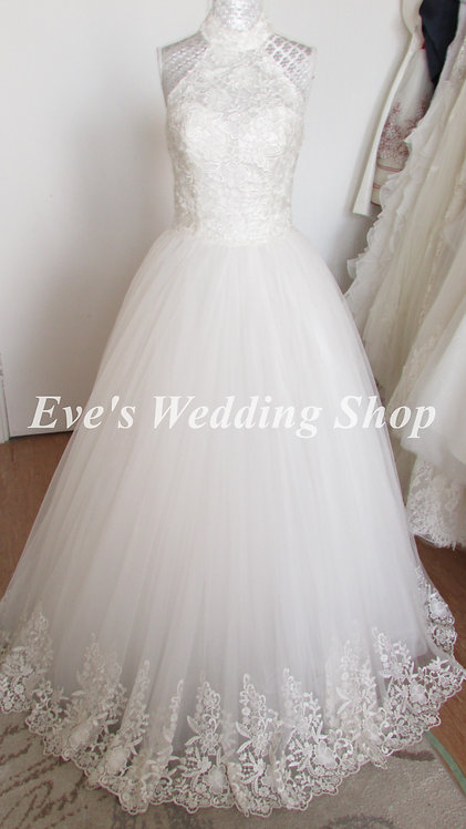 Alexia designs high neck ivory wedding dress UK 8