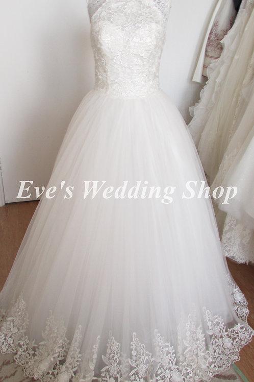Alexia designs high neck ivory wedding dress UK 8