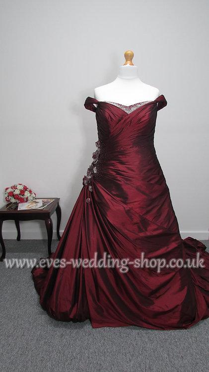 Sonsie burgundy wedding dress UK 22