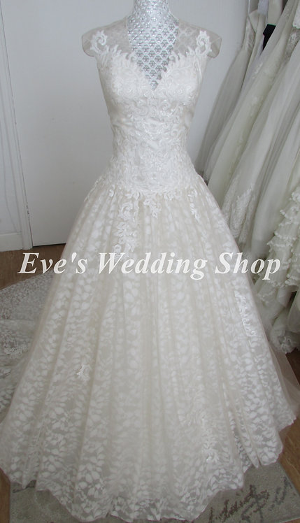 Rum pink ivory wedding dress UK 8/10