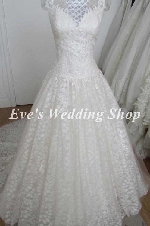 Rum pink ivory wedding dress Uk 14/16