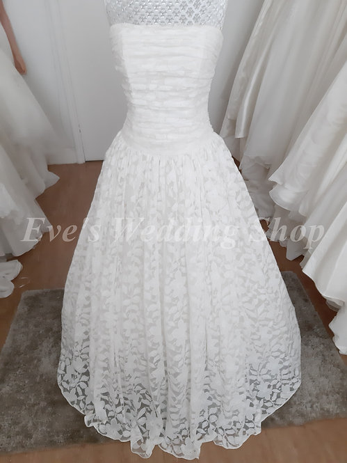 Dessy floral lace wedding dress UK 8