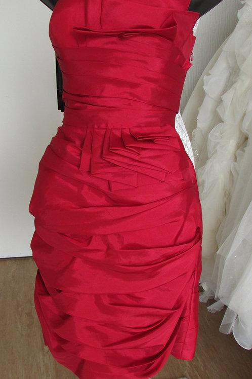 JORA COLLECTION DARK RED BRIDESMAID/EVENING DRESS 6/8