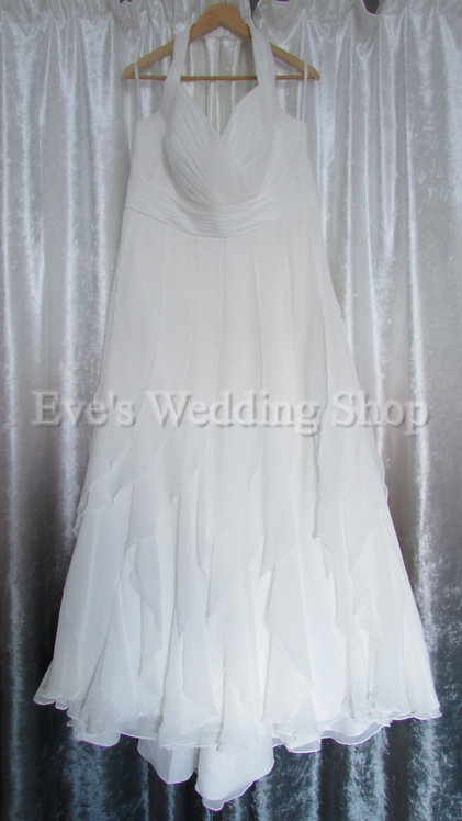 Berketex ivory halterneck wedding dress UK 22/24