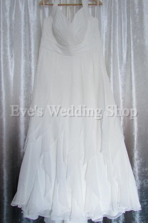 Berketex ivory halterneck wedding dress UK 22/24