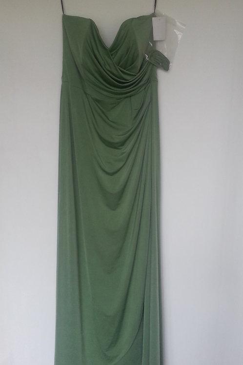 Dessy maracaine Jersey  style 6698 clover evening / bridesmaid dress UK 16
