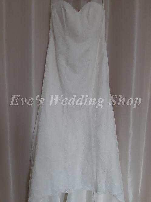 Christina Wu ivory lace wedding dress UK 14/16