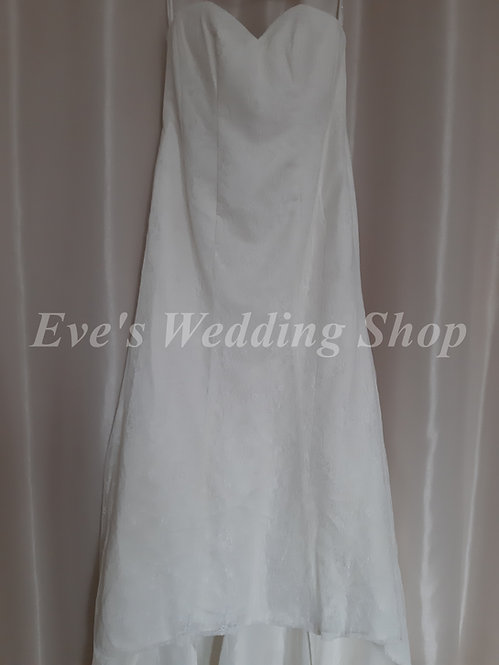 Christina Wu ivory lace wedding dress UK 14/16