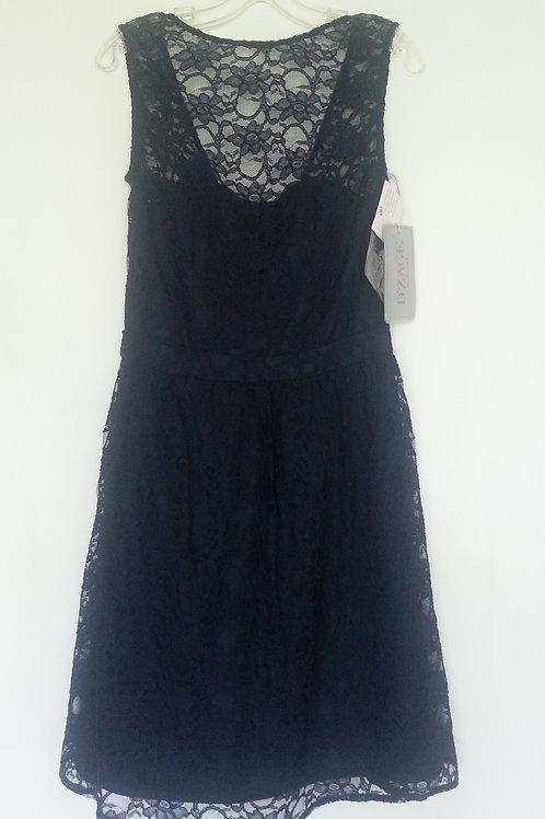 D'zage navy lace short evening / bridesmaid dress Uk 8