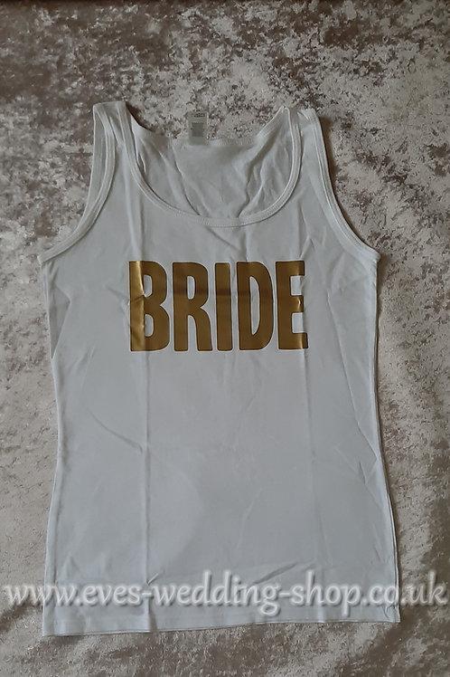 ''Bride'' white cotton vest