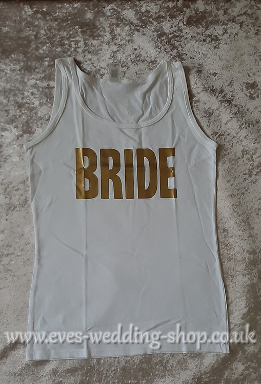''Bride'' white cotton vest