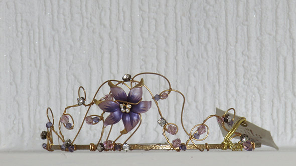 PURPLE COLOR PROM WEDDING  TIARA