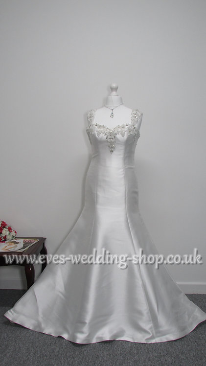 Anna Lizh mikado satin wedding dress UK 14