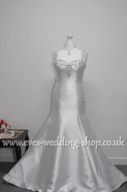 Anna Lizh mikado satin wedding dress UK 14