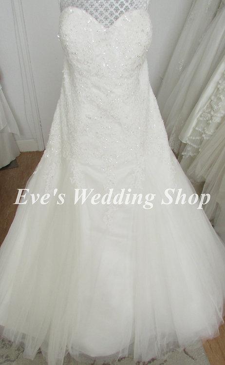 Beautiful ivory wedding dress UK 24/26