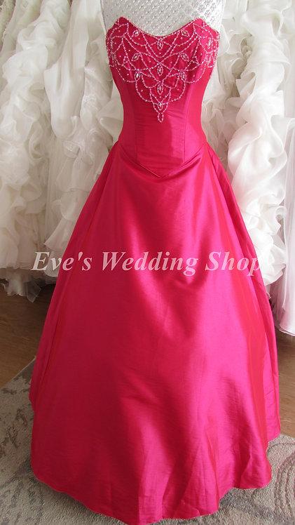 Pink beaded bridesmaid dress Uk 10/12