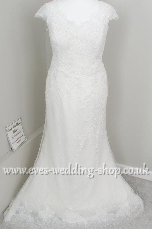 Nicole Spose ivory wedding dress approx. UK 22-24