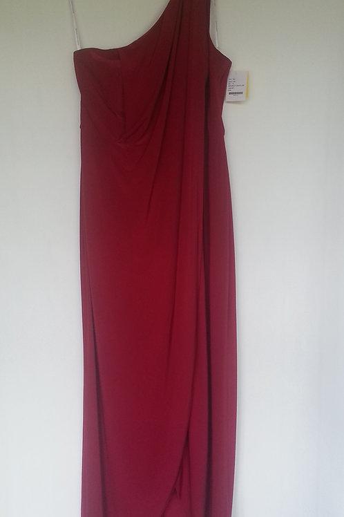 Dessy maracaine Jersey  style 2997 claret evening / bridesmaid dress Uk 16