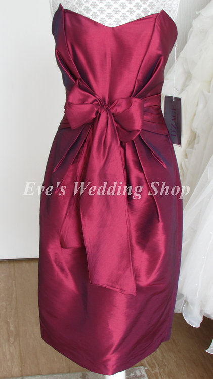 D'Zage burgundy evening / bridesmaid dress UK size 12