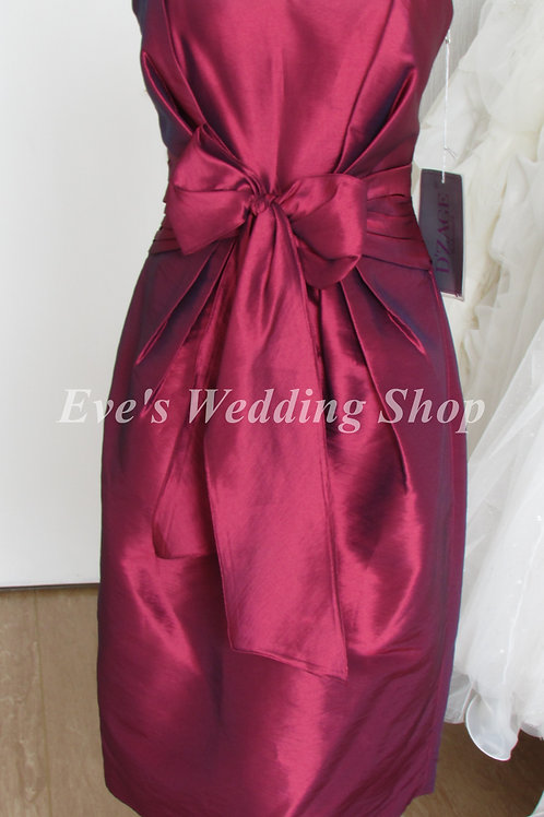 D'Zage burgundy evening / bridesmaid dress UK size 12