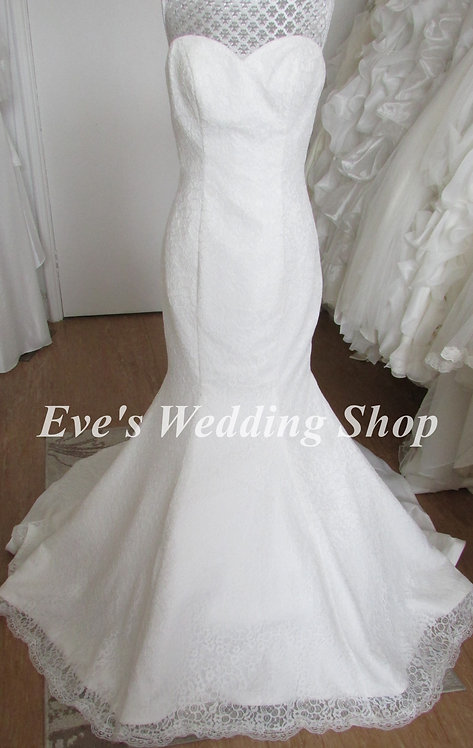 Phillipa Grace ivory lace wedding dress 10/12