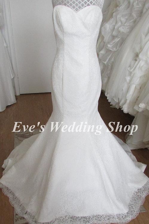 Phillipa Grace ivory lace wedding dress 10/12