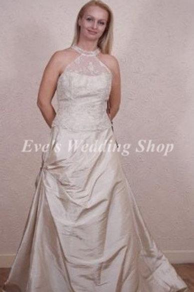ESTE'S TOFFEE COLOR COLLAR NECK WEDDING DRESS 12