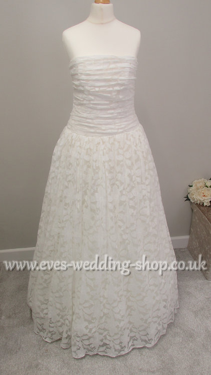 Dessy floral lace wedding dress UK 8