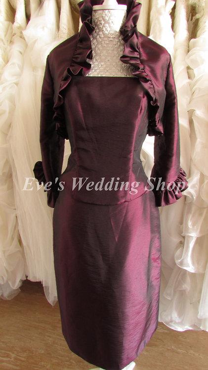 3 pc plum Mother of bride/groom dress EU 38 siZE