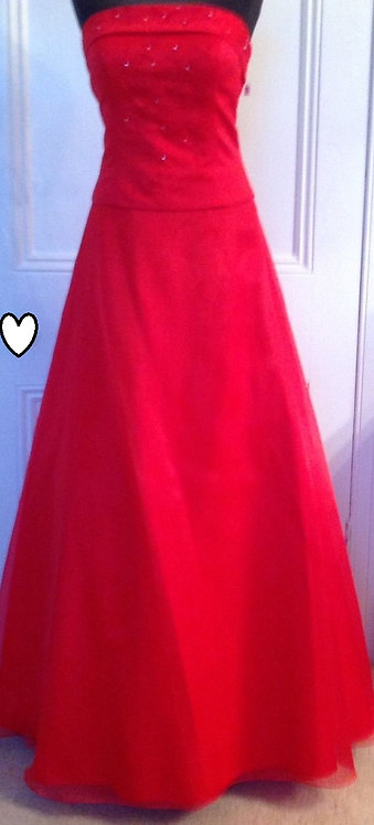 Gino Gerruti red wedding / prom dress UK size 14