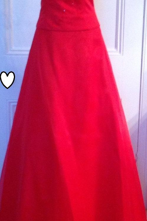 Gino Gerruti red wedding / prom dress UK size 14