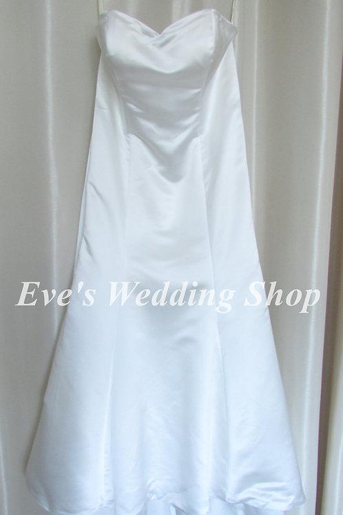 Beautiful simple Ivory wedding dress UK 20 / 22