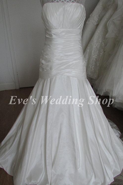 PHILLIPA GRACE IVORY BEADED WEDDING DRESS 8