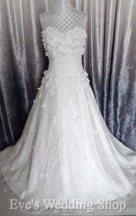 Amanda Wyatt ivory wedding dress  UK 10/12