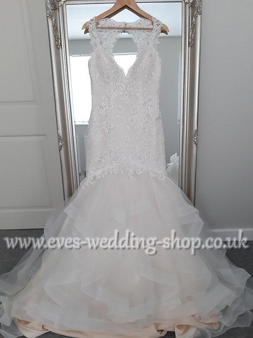 Eternity bride ivory/cafe colour wedding dress UK 10