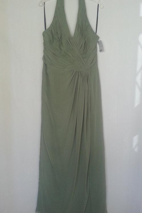 Dessy 2992 kiwi evening / bridesmaid dress UK 16