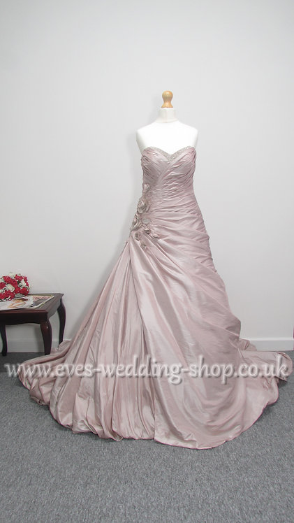 Veromia Sonsie rum pink wedding dress style VR61008 UK size 12
