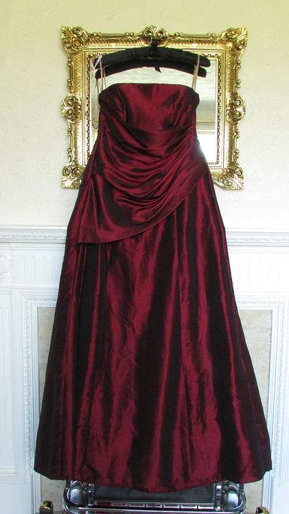 IZZI-IZAIAH-BURGUNDY-BRIDESMAID DRESS 12/14