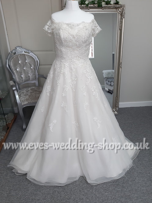 Sophia Tolli ''Jade'' French ivory off shoulder wedding dress UK 14