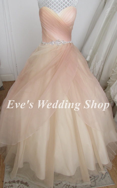Fairytale Collection champagne wedding dress UK 14/16