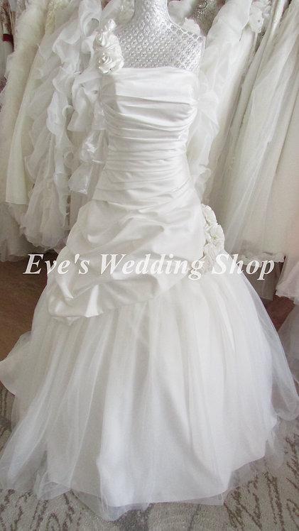 One strap ivory Trudy Lee wedding dress UK 14/16