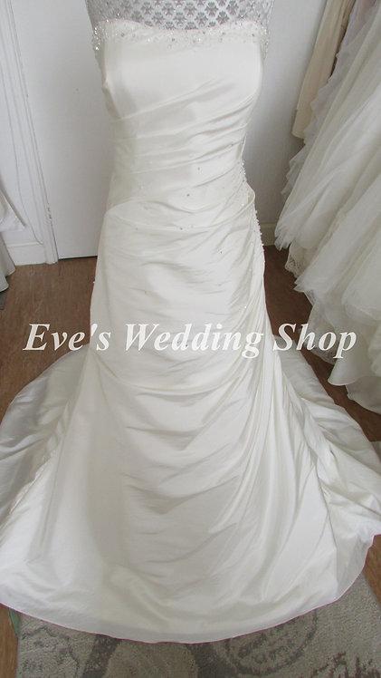Romantica ''Ella'' ivory taffeta wedding dress UK 16/18